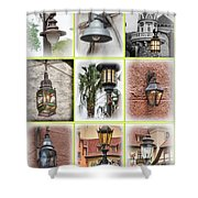 Lamps Of Disney Shower Curtain