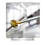 Lampwork Glass Bead Shower Curtain