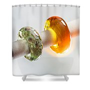 Lampwork Glass Beads Shower Curtain