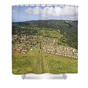 Lanai City Aerial Shower Curtain