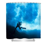 Lanai Diver Shower Curtain