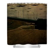 Lancasters Over Newhaven March 30th 1944 Shower Curtain
