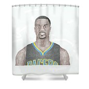 Lance Stephenson Shower Curtain by Toni Jaso