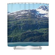 Land And Sea In Whittier Shower Curtain