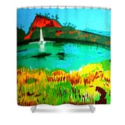 Land And Sea Shower Curtain