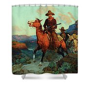 Land Beyond The Law Shower Curtain