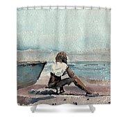 Land Far Away Shower Curtain