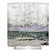 Land Of Enchantment Shower Curtain