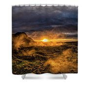 Land Of Fire And Ice Shower Curtain