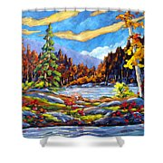 Land Of Lakes Shower Curtain