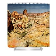 Land Of Sandstones Valley Of Fire Shower Curtain