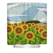 Land Of Sunflowers. Shower Curtain