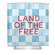 Land Of The Free Shower Curtain by Linda Woods