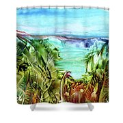 Land Sea And Sky Shower Curtain