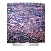 Land Structure Shower Curtain