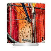 Land Vs Water Sports Shower Curtain