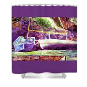 Landed Boats Shower Curtain