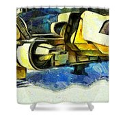 Landed Imperial Shuttle - Pa Shower Curtain
