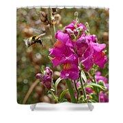 Landing Bumblebee Shower Curtain by Ivana Westin