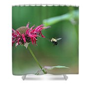 Landing Gear Down Captain Shower Curtain