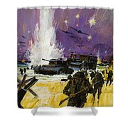 Landing Shower Curtain by Graham Cotton