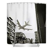 Landing In Hong Kong Shower Curtain