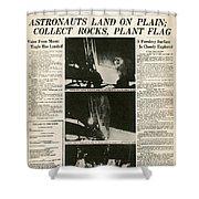 Landing On Moon, 1969 Shower Curtain