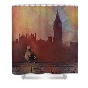 Landing Place- London Shower Curtain