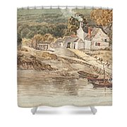 Landing Place Near Tintern Abbey Shower Curtain