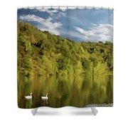 Landingville Lake Pennsylvania Shower Curtain
