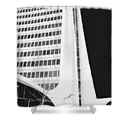 Landmark Square Facade Shower Curtain