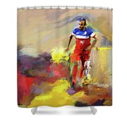 Landon Donovan 545 1 Shower Curtain