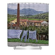 Landry On The Line Shower Curtain