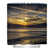 Lands End Sun Set  Shower Curtain