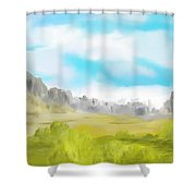 Landscape 040710 Shower Curtain