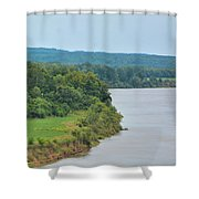Landscape Along The Tennessee River At Shiloh National Military Park, Tennessee Shower Curtain