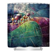 Landscape And Trees In Purple Shower Curtain
