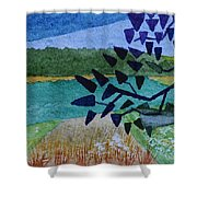 Landscape Angles Shower Curtain