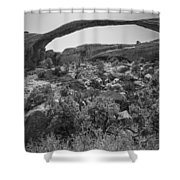Landscape Arch Bw Shower Curtain