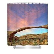 Landscape Arch Sunrise Shower Curtain