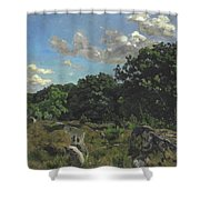 Landscape At Chailly Shower Curtain