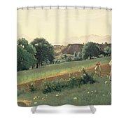 Landscape At Mornex Shower Curtain