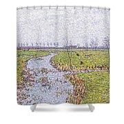 Landscape At Sluis Shower Curtain