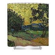 Landscape At Twilight Auvers Sur Oise June 1890 Vincent Van Gogh 1853  189 Shower Curtain
