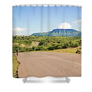 Landscape By Lake Malawi Shower Curtain