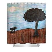 Landscape - Distant Cousins Shower Curtain