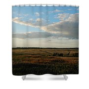 Landscape Far From The City Shower Curtain