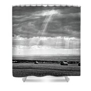Landscape From Garrowby Hill, Yorkshire Uk Shower Curtain