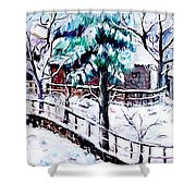landscape from Librazhd Shower Curtain