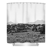 Landscape Galisteo Nm K10i Shower Curtain